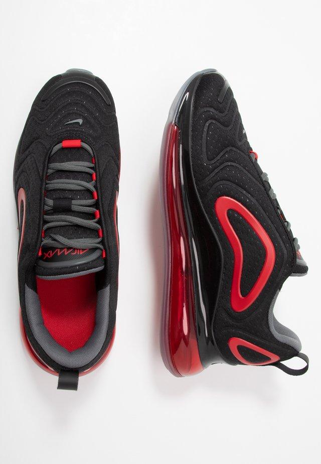 AIR MAX 720 - Sneakersy niskie - black/university red/white