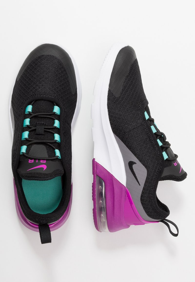 Nike Sportswear - AIR MAX MOTION 2 - Slipper - black/hyper violet/gunsmoke/aurora green