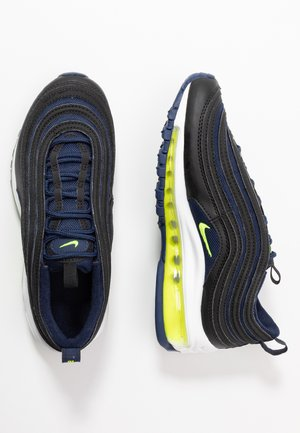 AIR MAX 97 - Sneakers basse - black/lemon/midnight navy/white