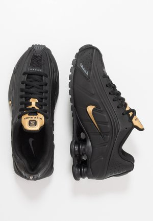 SHOX R4 - Sneakers - black/metallic gold/anthracite