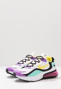 Nike Sportswear - AIR MAX 270 REACT - Sneakers laag - black/bicycle yellow/teal tint/violet star - 3