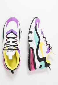 Nike Sportswear - AIR MAX 270 REACT - Sneakers laag - black/bicycle yellow/teal tint/violet star - 0