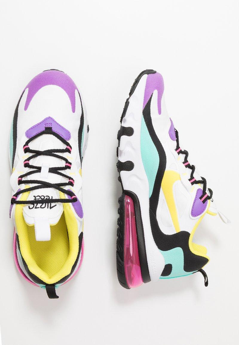 Nike Sportswear - AIR MAX 270 REACT - Sneakers laag - black/bicycle yellow/teal tint/violet star