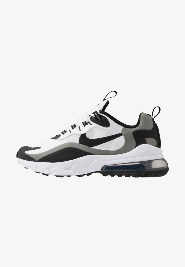 AIR MAX 270 REACT - Sneakers - white/black/metallic pewter