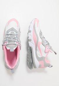 Nike Sportswear - AIR MAX 270 REACT - Zapatillas - white/pink/light smoke grey/metallic silver - 0