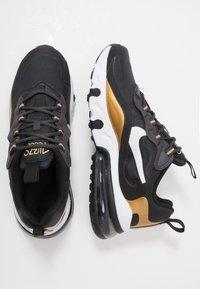 Nike Sportswear - AIR MAX 270 REACT - Sneakers laag - anthracite/white/black/metallic gold - 0