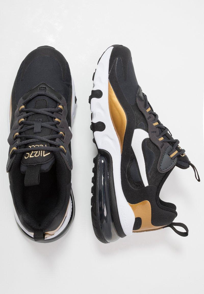 Nike Sportswear - AIR MAX 270 REACT - Sneakers laag - anthracite/white/black/metallic gold