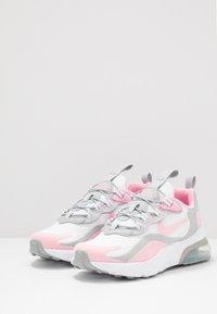Nike Sportswear - NIKE AIR MAX 270 RT BP - Trainers - white/pink/light smoke grey/metallic silver - 3