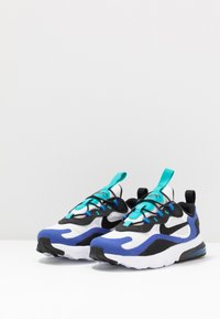 Nike Sportswear - AIR MAX 270 RT - Sneakersy niskie - white/black/hyper blue/oracle aqua - 3