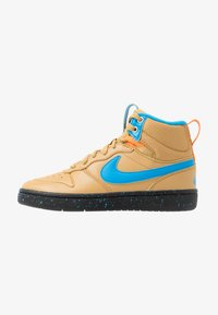 Nike Sportswear - COURT BOROUGH MID  - Höga sneakers - club gold/blue hero/kumquat/black - 1