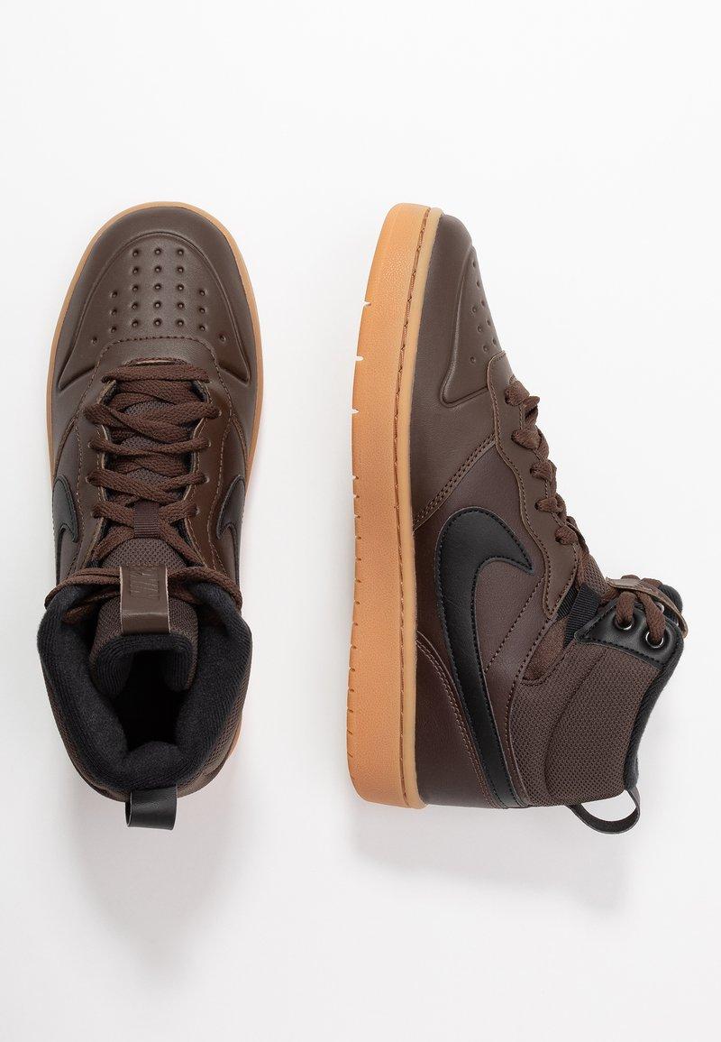 Nike Sportswear - COURT BOROUGH MID  - High-top trainers - baroque brown/black/medium brown