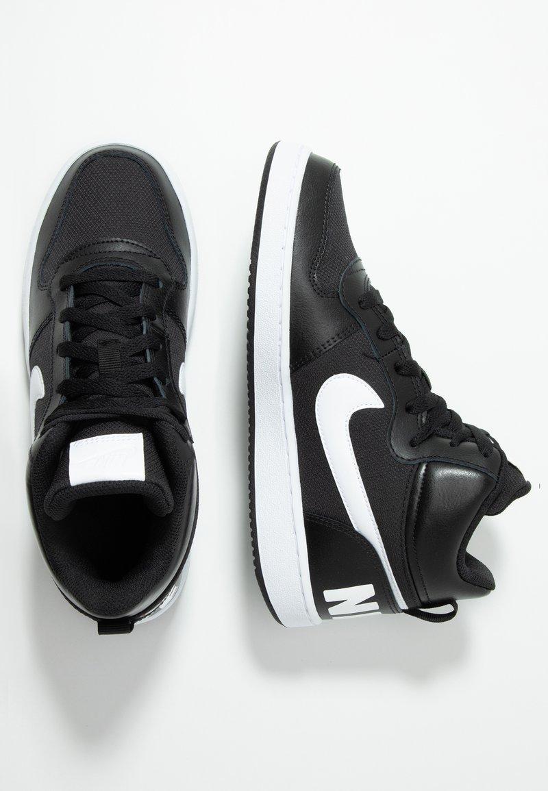 Nike Sportswear - COURT BOROUGH MID - Sneakers hoog - black/white