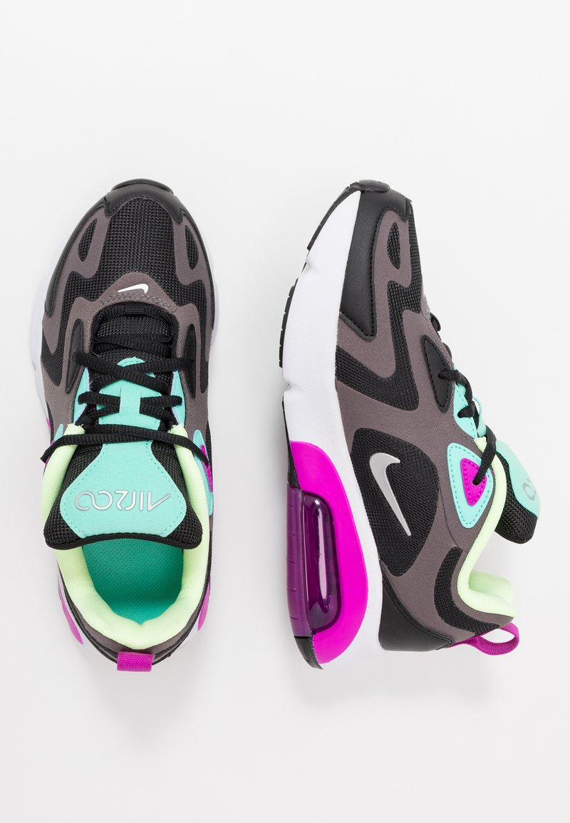 Nike Sportswear - AIR MAX 200 - Sneaker low - black/metallic silver/thunder grey/aurora green/hyper violet/barely volt