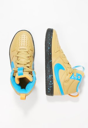 Vysoké tenisky - club gold/blue hero/kumquat/black