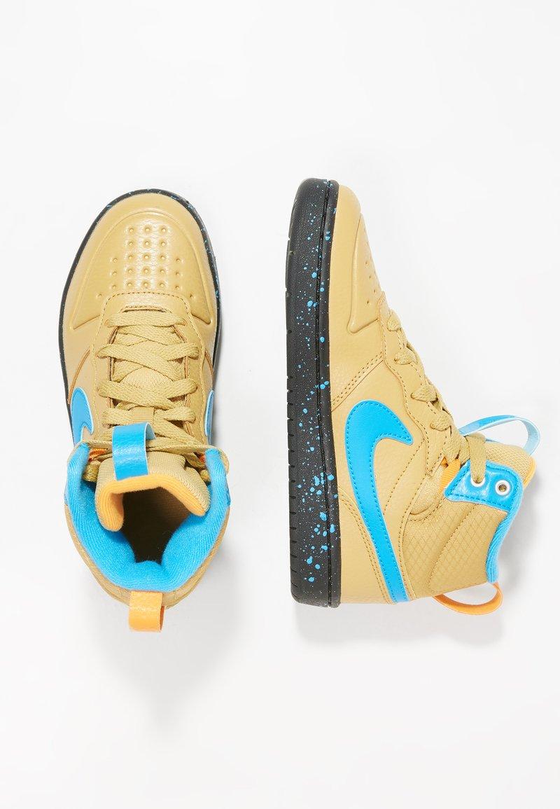 Nike Sportswear - Sneakersy wysokie - club gold/blue hero/kumquat/black