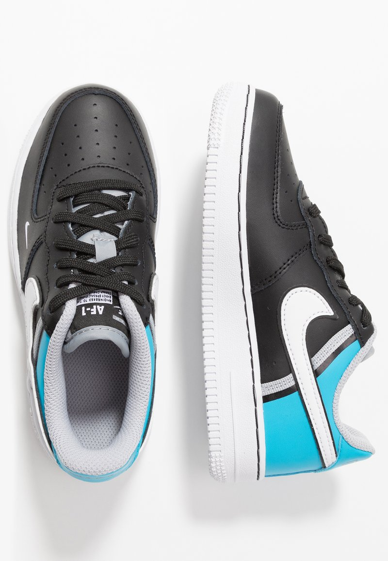 Nike Sportswear - FORCE 1 LV8  - Baskets basses - black/white/light current blue/wolf grey