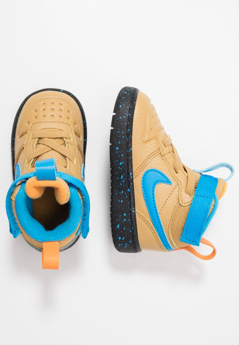 Nike Sportswear - COURT BOROUGH MID 2 BOOT - Sneakersy wysokie - club gold/blue hero/kumquat/black