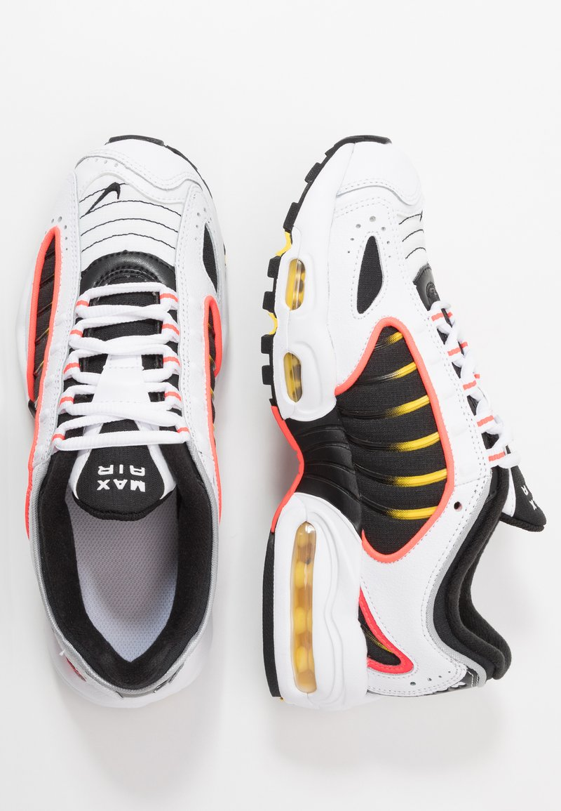 Nike Sportswear - AIR MAX TAILWIND - Sneakers - white/black/bright crimson/chrome yellow