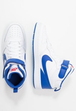 COURT BOROUGH MID - High-top trainers - white/game royal/university red