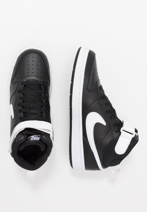 COURT BOROUGH MID - High-top trainers - black/white