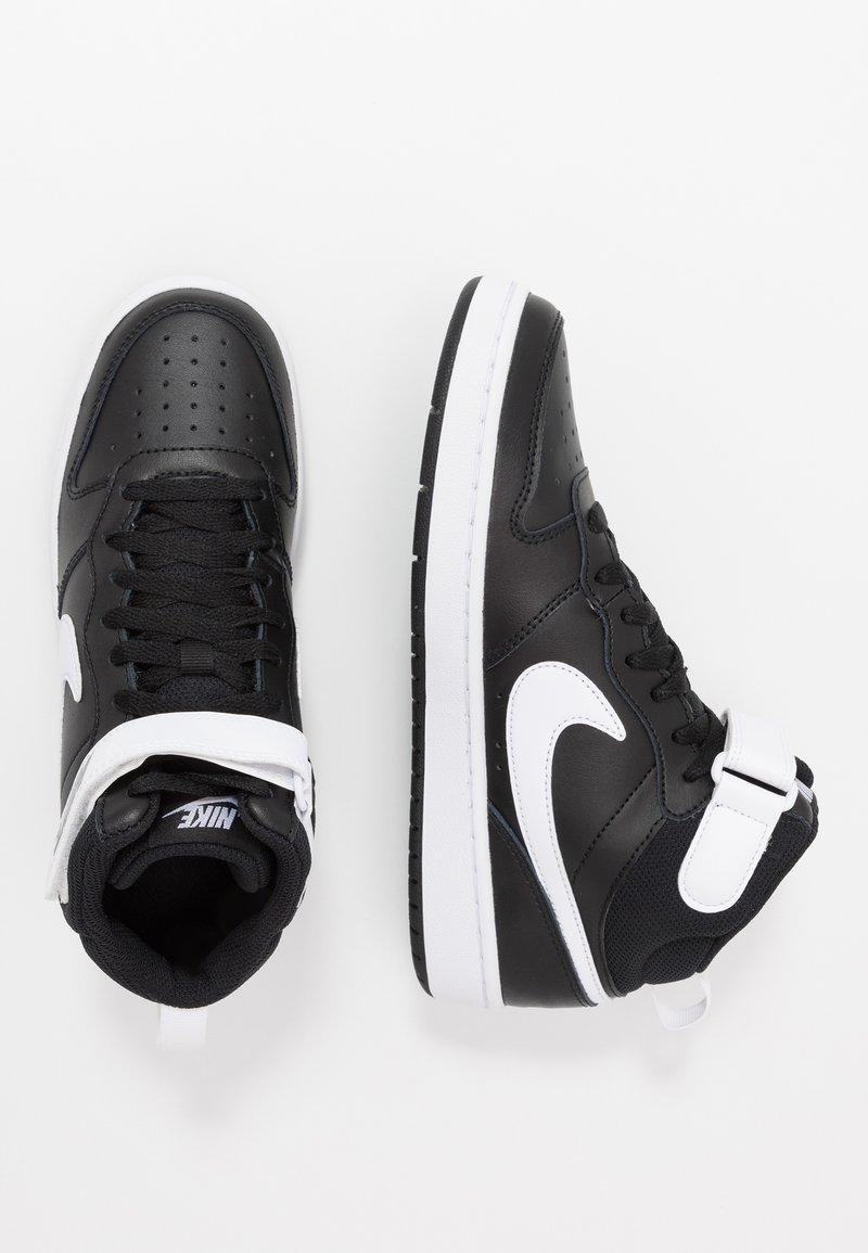 Nike Sportswear - COURT BOROUGH MID - Sneakers alte - black/white