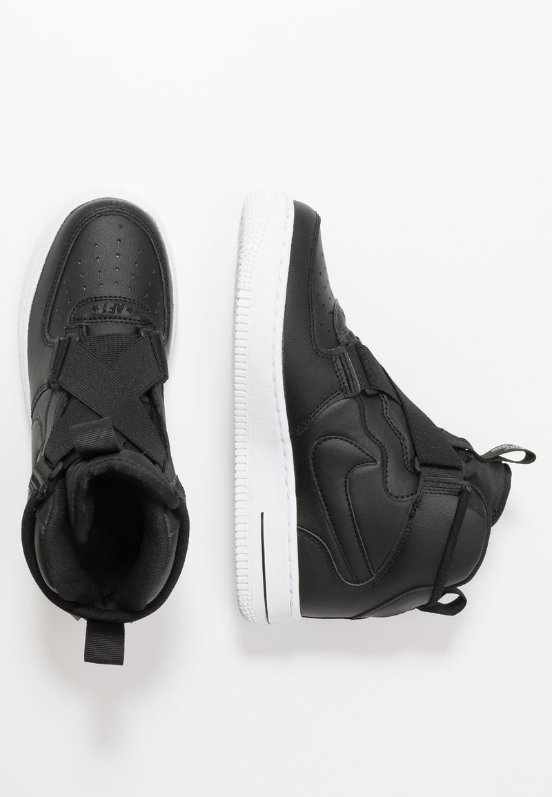 Nike Sportswear - AIR FORCE 1 BG - Sneakersy wysokie - black/white