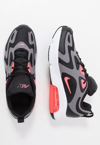 Nike Sportswear - NIKE AIR MAX 200  - Sneakers - black/hot punch/gunsmoke/white - 0