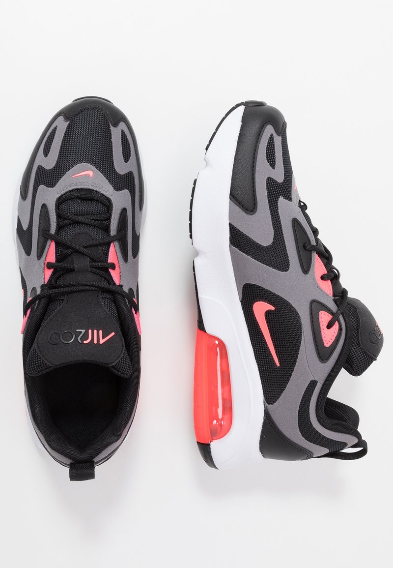 Nike Sportswear - NIKE AIR MAX 200  - Sneakers laag - black/hot punch/gunsmoke/white