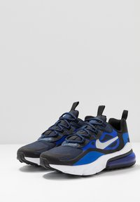 Nike Sportswear - AIR MAX 270 REACT - Trainers - midnight navy/metallic silver/racer blue/black - 3