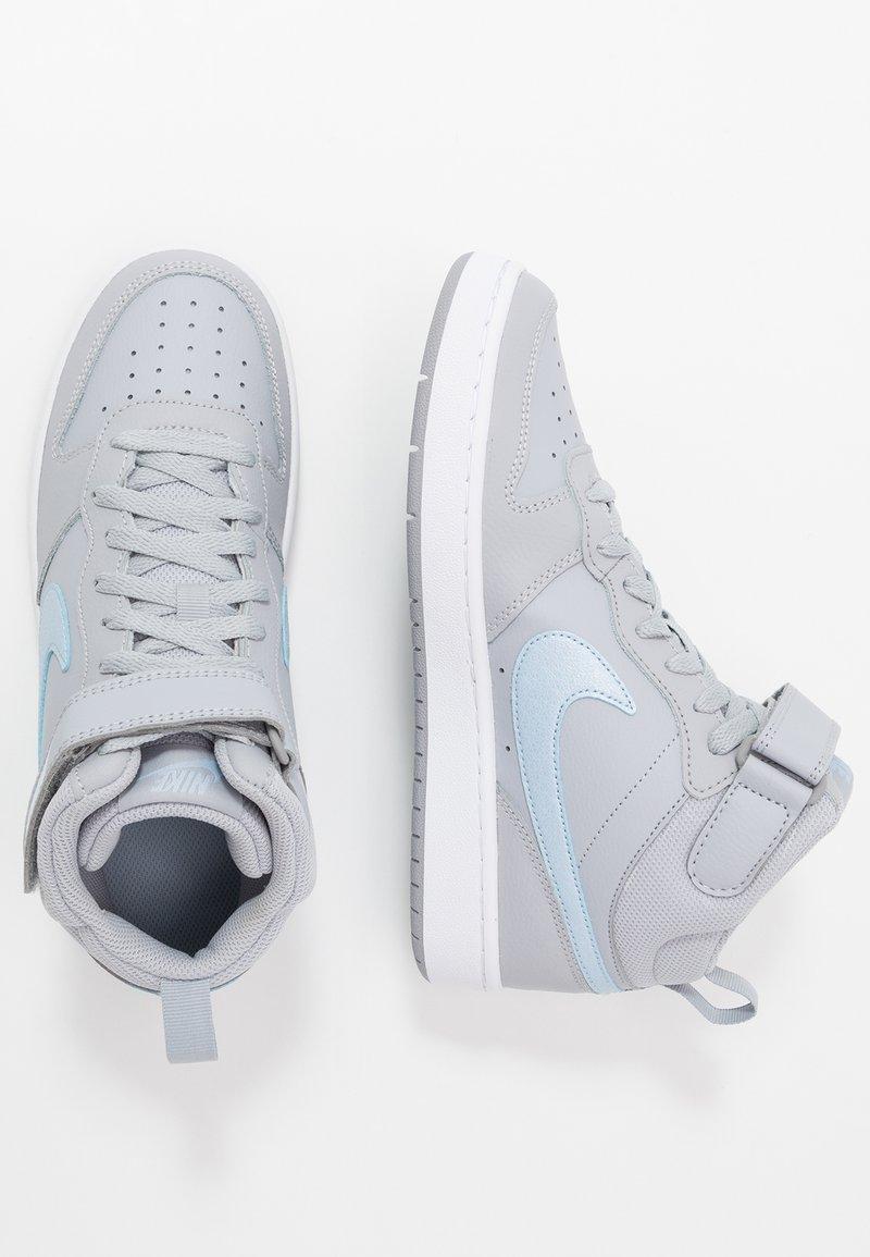 Nike Sportswear - COURT BOROUGH MID 2 - Sneaker high - wolf grey/celestine blue/white