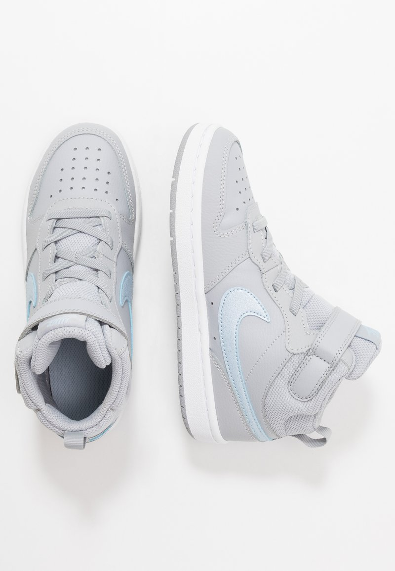 Nike Sportswear - COURT BOROUGH MID 2  - Vysoké tenisky - wolf grey/celestine blue/white