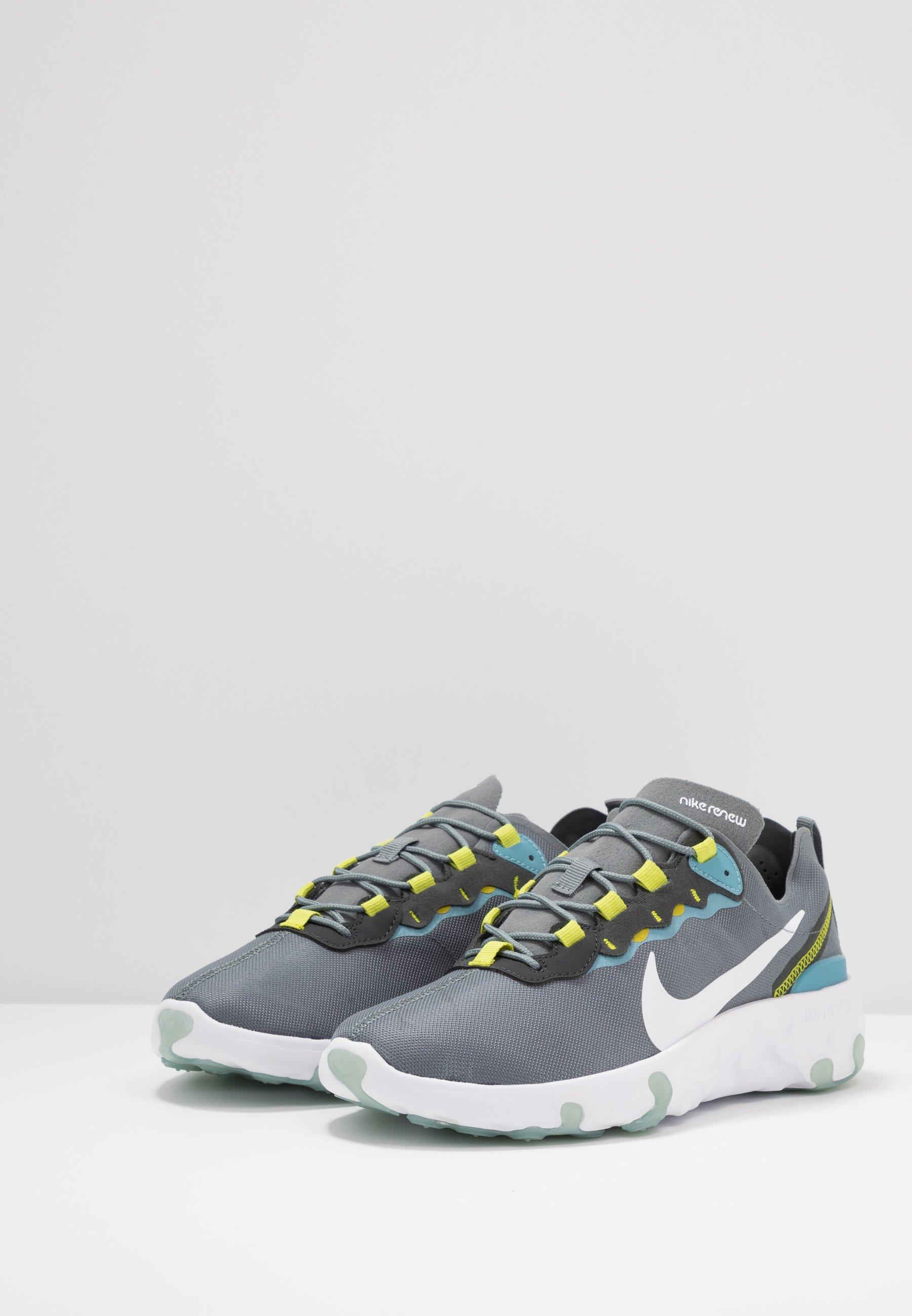 Nike Sportswear RENEW 55 - Trainers - smoke grey/white/cerulean/bright cactus/dark smoke grey