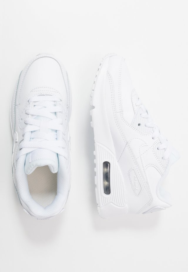 AIR MAX 90 LTR - Sneakers - white/metallic silver