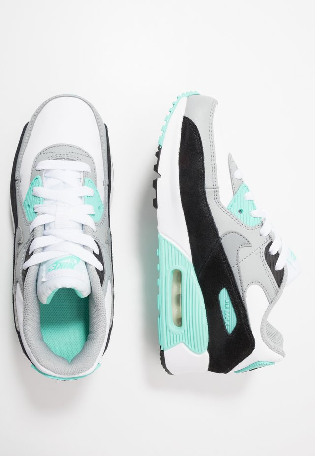 AIR MAX 90 LTR - Sneakers laag - white/particle grey/light smoke grey/hyper turquoise/black
