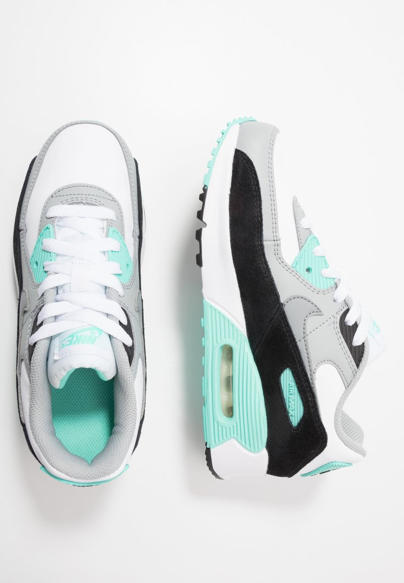 Nike Sportswear - AIR MAX 90 LTR - Sneakers laag - white/particle grey/light smoke grey/hyper turquoise/black