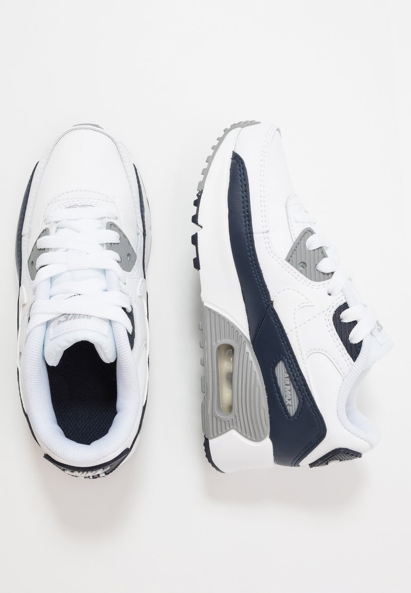 Nike Sportswear - AIR MAX 90 LTR - Sneakersy niskie - white/particle grey/obsidian