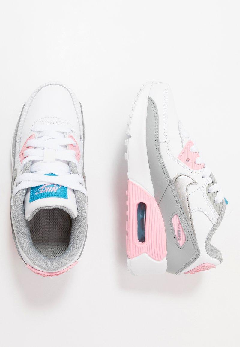 Nike Sportswear - AIR MAX 90 LTR - Sneakersy niskie - light smoke grey/metallic silver/white/pink