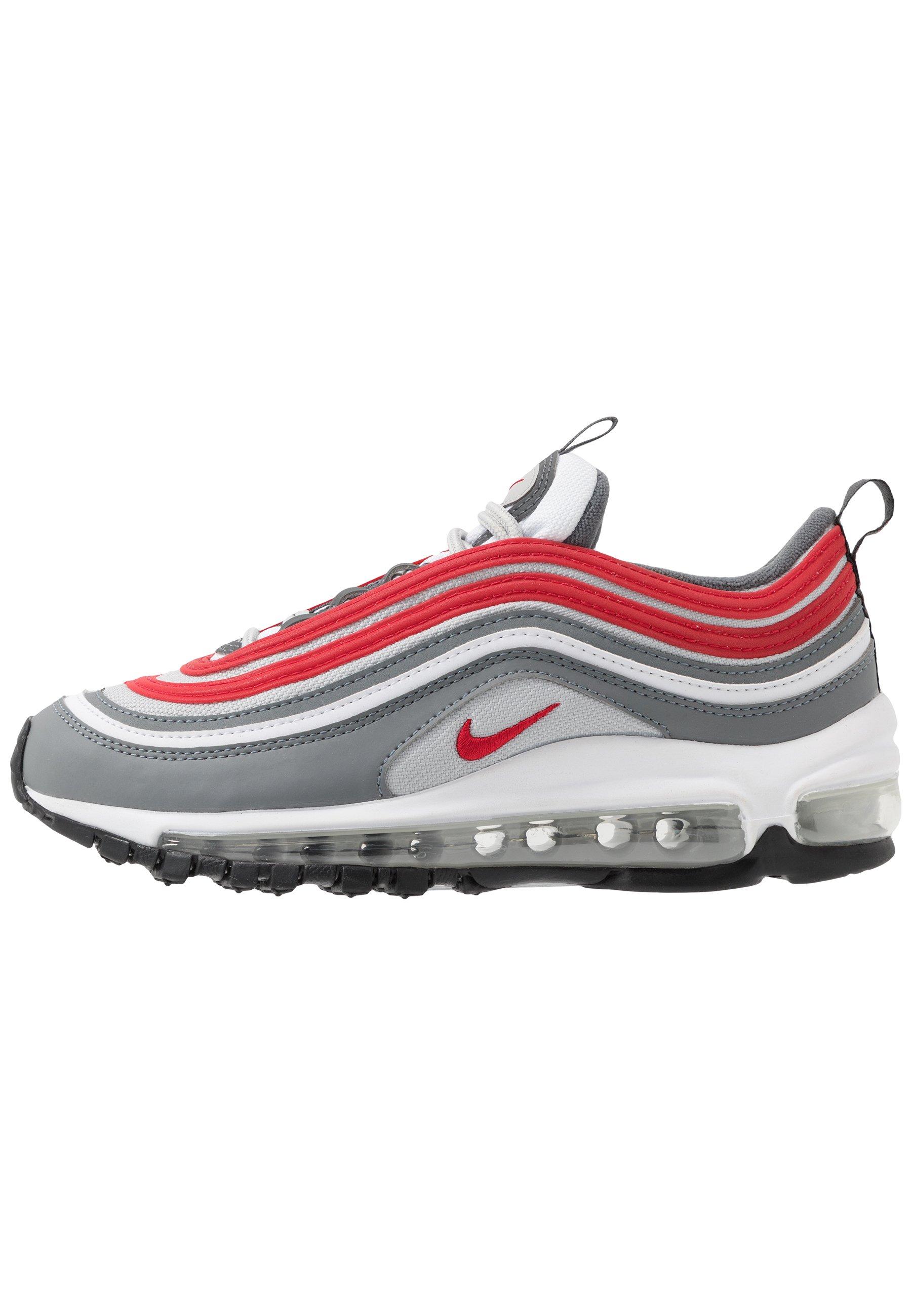 Nike Sportswear AIR MAX 97 - Sneakersy niskie - smoke grey/university red/white/grey fog