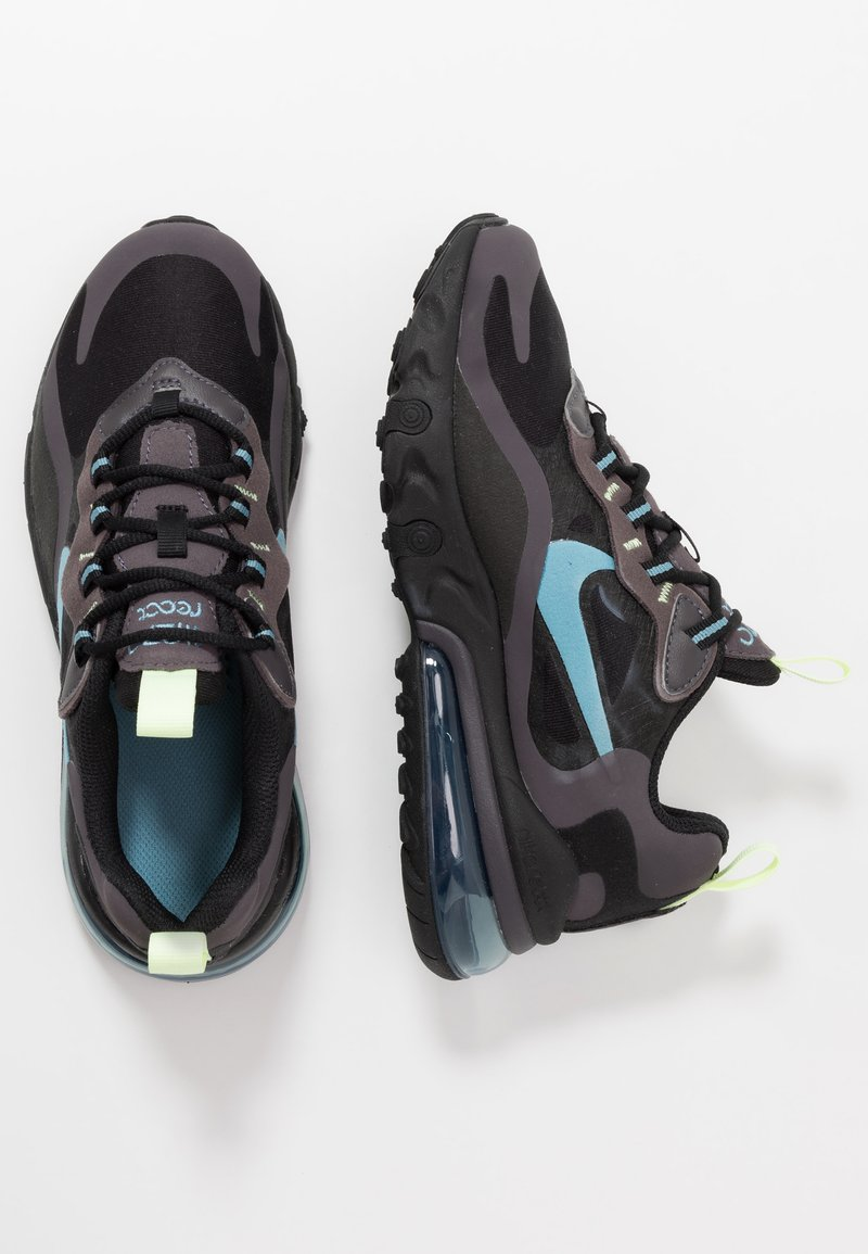 Nike Sportswear - AIR MAX 270 REACT - Sneakers basse - black/cerulean/thunder grey/barely volt