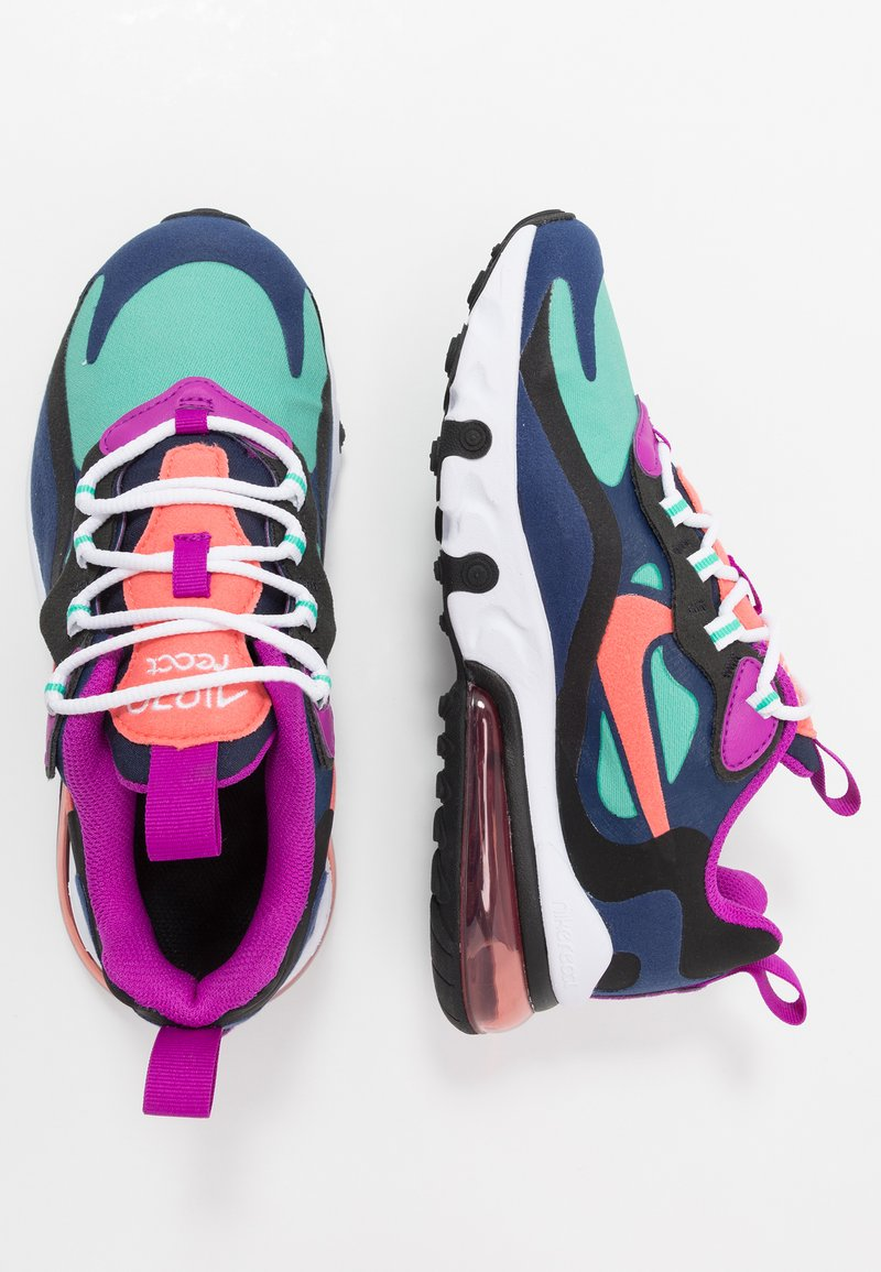 Nike Sportswear - AIR MAX 270 REACT - Sneakers laag - blue void/magic ember/black/kinetic green