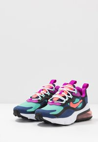 Nike Sportswear - AIR MAX 270 REACT - Sneakers laag - blue void/magic ember/black/kinetic green - 3