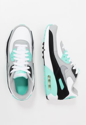 AIR MAX 90 - Trainers - white/particle grey/light smoke grey/hyper turquoise/black