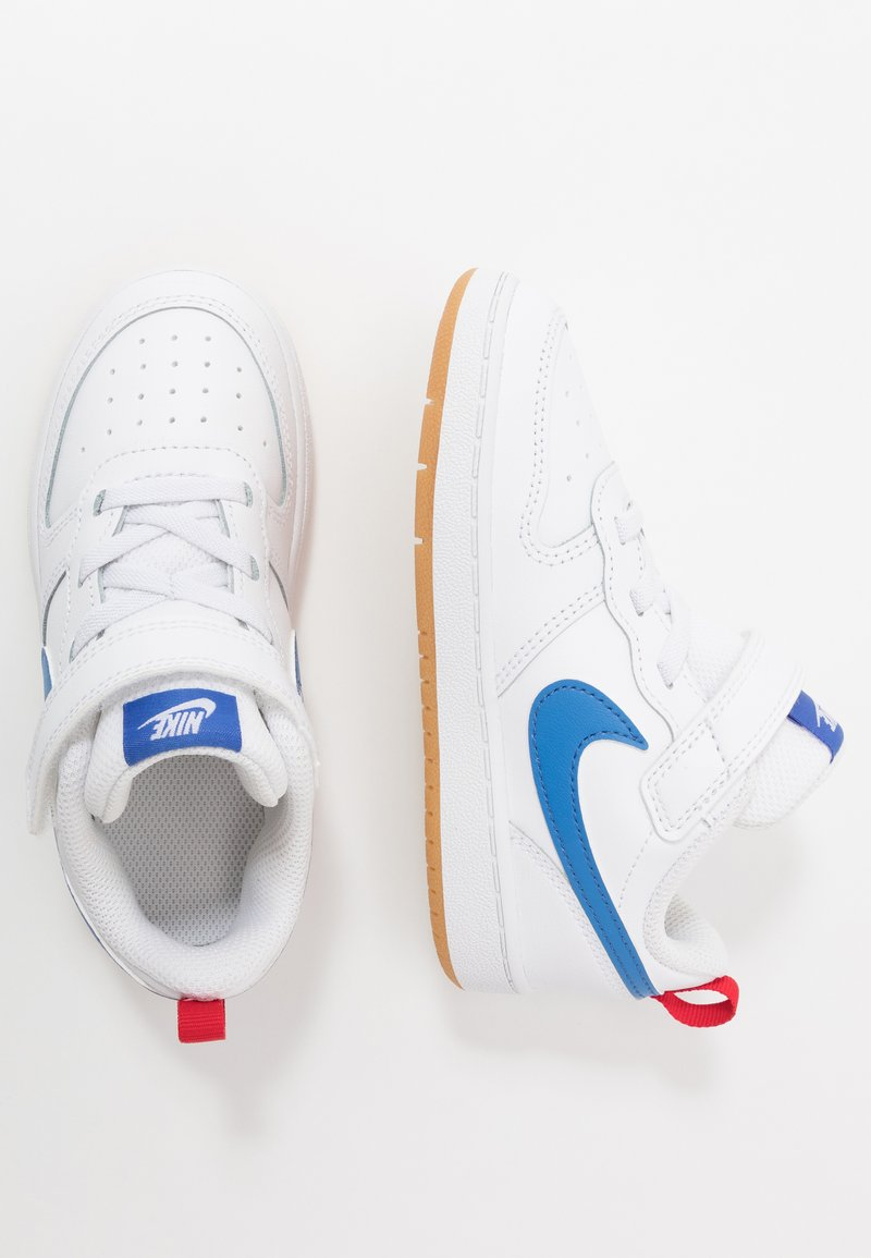 Nike Sportswear - COURT BOROUGH 2 - Sneakers basse - white/pacific blue/university red/light brown