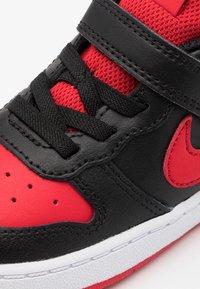 Nike Sportswear - COURT BOROUGH 2 - Sneakers laag - black/university red/white - 5