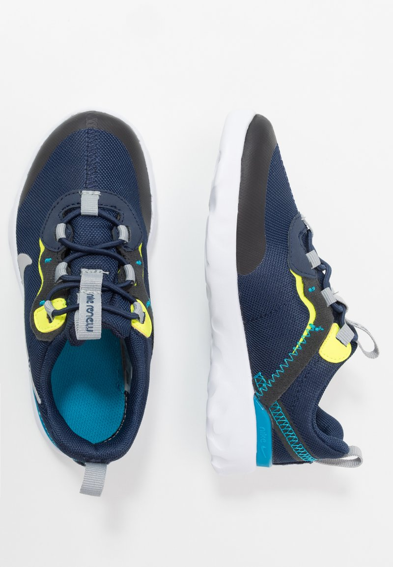 Nike Sportswear - RENEW 55 - Sneakers basse - midnight navy/light smoke grey/lemon/laser blue