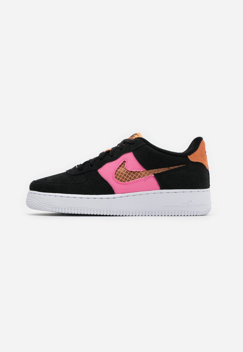 Nike Sportswear - AIR FORCE LV8 FRESH AIR - Tenisky - black/orange trance/lotus pink/white