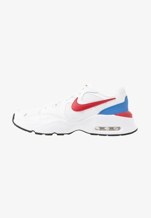 NIKE AIR MAX FUSION - Sneakersy niskie - white/gym red/pacific blue