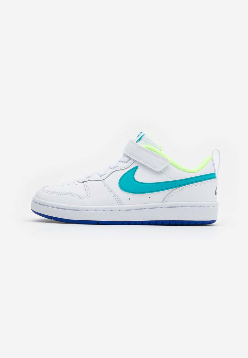Nike Sportswear - COURT BOROUGH 2 - Sneakers basse - white/oracle aqua/hyper blue/ghost green