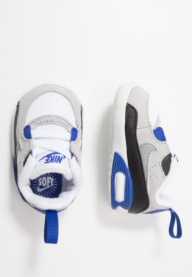 Nike Sportswear - MAX 90 CRIB - Scarpe neonato - white/particle grey/light smoke grey/hyper blue/black