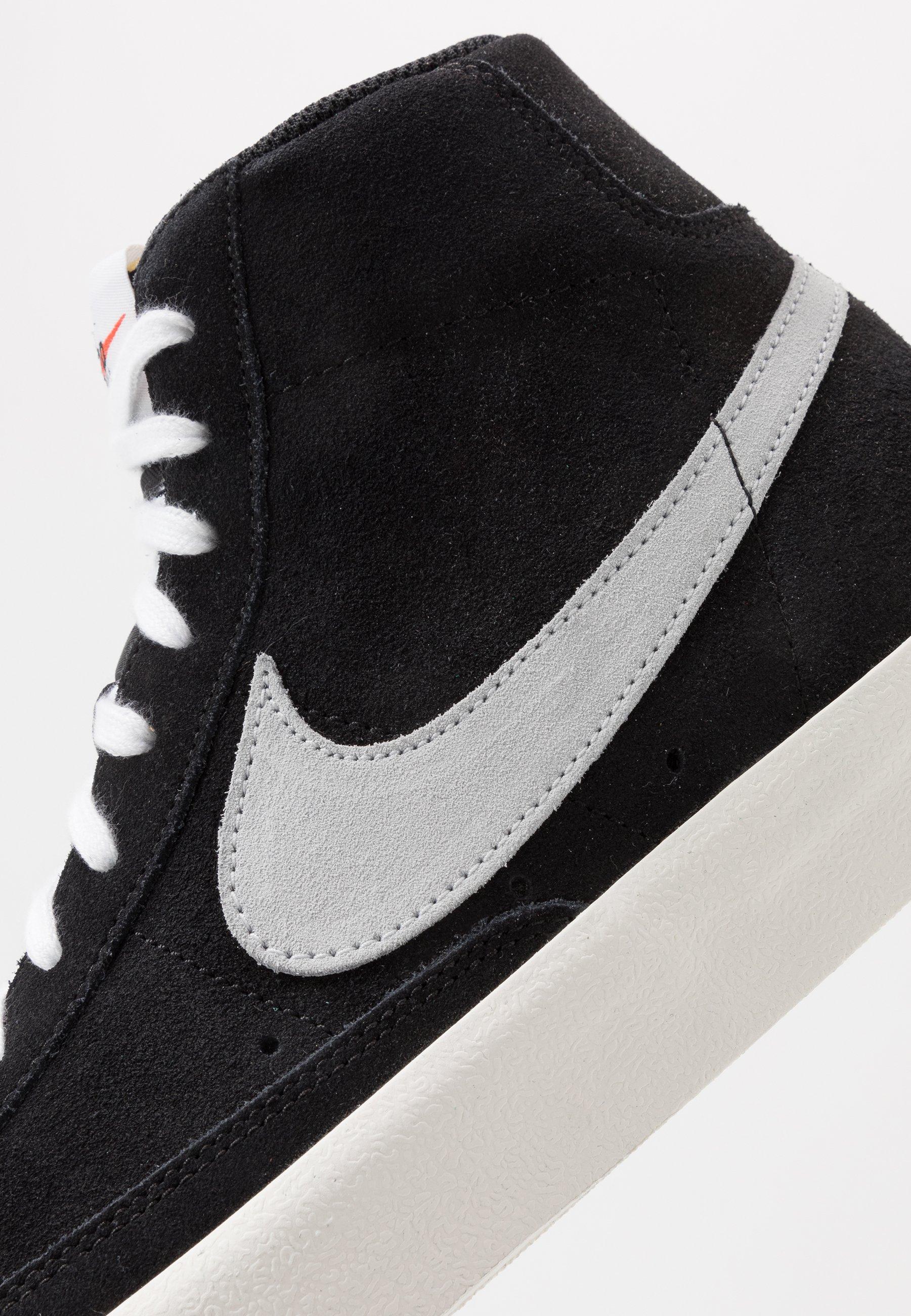 Nike Sportswear BLAZER MID '77 - Sneakers high - black/pure platinum/sail/white